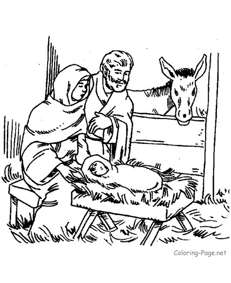 bible coloring page mary joseph jesus nativities