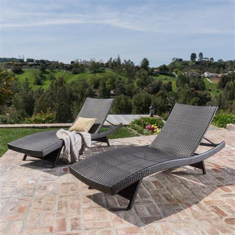 chaise chairs outdoor noble house toscana multi brown 2 wicker outdoor