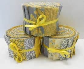 yellow and gray quilt fabric jelly roll strips sew