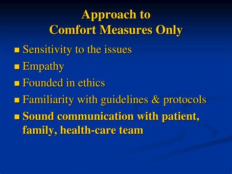 comfort measures ppt what does dnr really mean comfort measures only