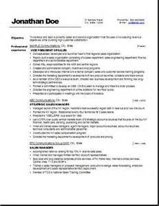 Resume Formats Sles by Vp Sales Exle Resume U3 Business Skills Resume