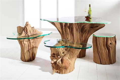 tables made from tree stumps wood furniture design each a work of