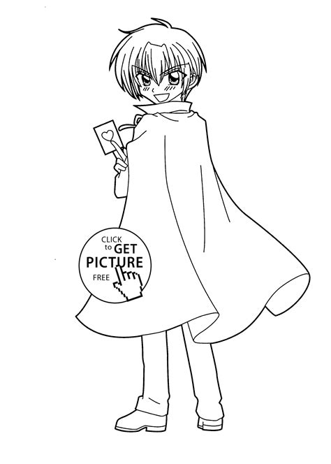 Hiroto From Kilari Anime Coloring Pages For Kids Coloring Pages Of Anime Boys Free