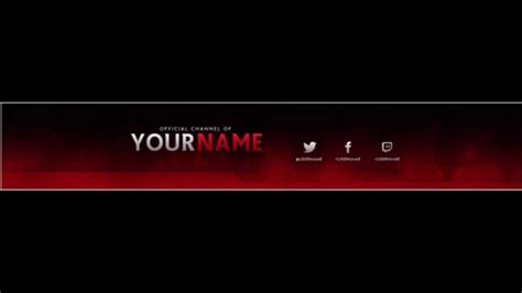 youtube profile banner best business template