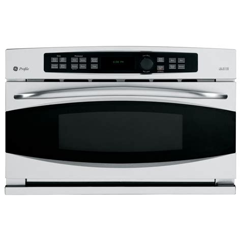 ge built in microwave shop ge profile 1 7 cu ft built in convection microwave with sensor cooking controls stainless
