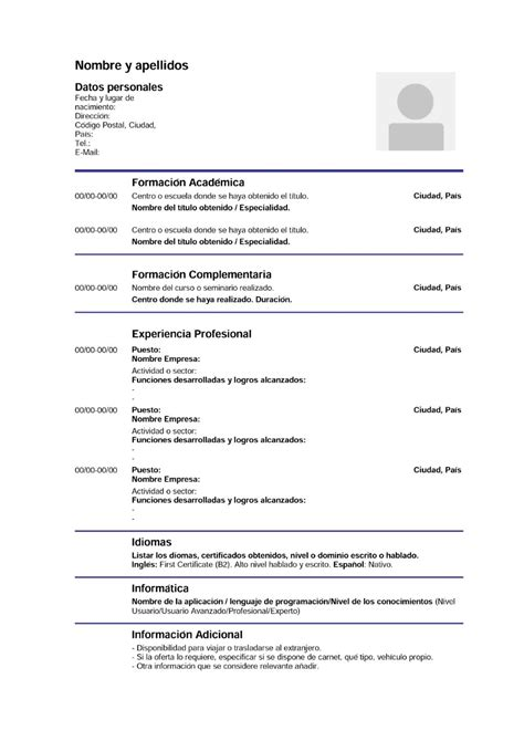 Modelo Curriculum Infojobs C 243 Mo Conseguir Empleo En 7 Pasos