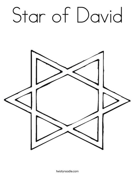 coloring page of star of david star of david coloring page twisty noodle