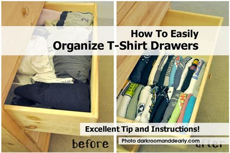 How To Organize T Shirts In A Drawer how to easily organize t shirt drawers