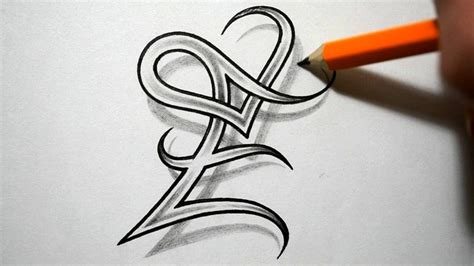 heart letter tattoo designs initial e and combined together celtic weave style