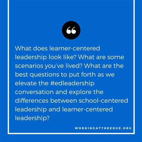 elevating the edleadership conversation what are the best questions to ask working at the edge