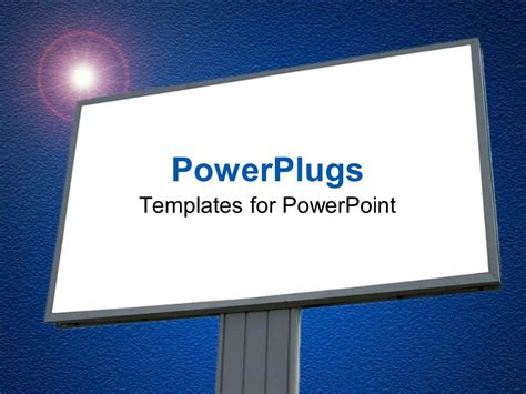 Powerpoint Template A Large Plain Blank Billboard With And A Bright Light 3585 Blank Powerpoint Templates