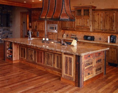 rustic alder kitchen cabinets mike roths bear paw designs custom cabinetry