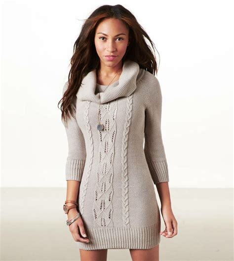 cowl neck sweater dress dressed up
