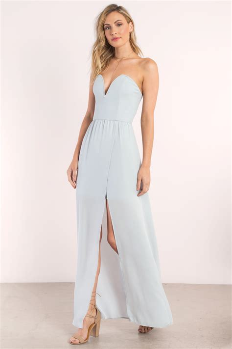 light blue strapless top strapless maxi dresses all dress