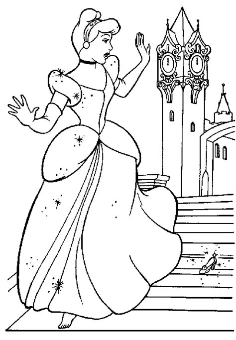 coloring sheets to print free printable cinderella coloring pages for