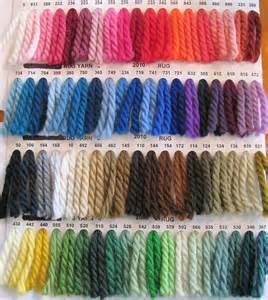 yarn color chart saddle blanket yarn colors