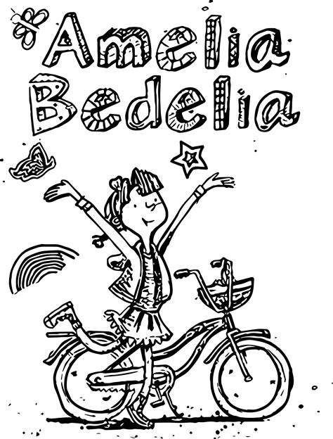 amelia bedelia coloring pages images amelia bedelia drawing biycle coloring page wecoloringpage