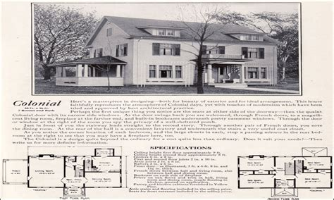 1920 Colonial Homes 1920 Colonial Revival House Plans Colonial Revival House Plans