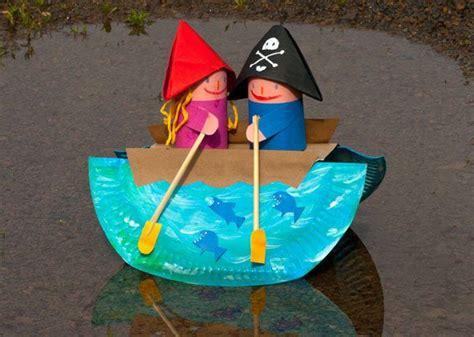 roeiboot kinderen roeiboot knutselen met kleuters thema boten pinterest