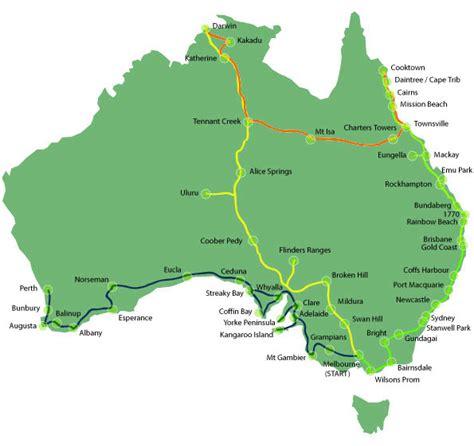map around australia map of our journey around australia this travel