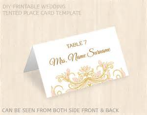 printable wedding place card templatename place cardeditable