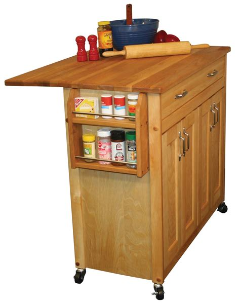 kitchen island cart with drop leaf catskill mid sized kitchen island cart w drop leaf