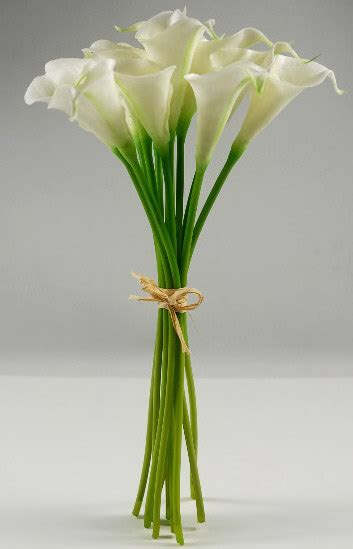Vase Sand Calla Lily Bouquet Natural Touch 14 Quot Tall