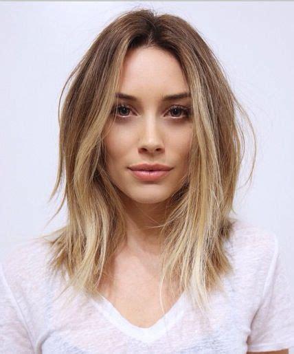 ombre lob hair light brown to blonde ombr 233 lob haircut hair