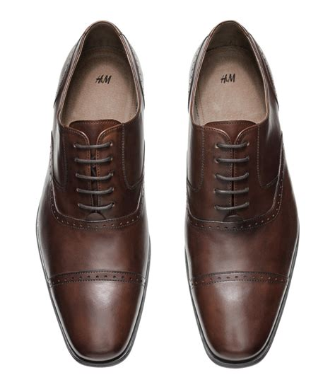 h m oxford shoes h m leather oxford shoes in brown for brown lyst