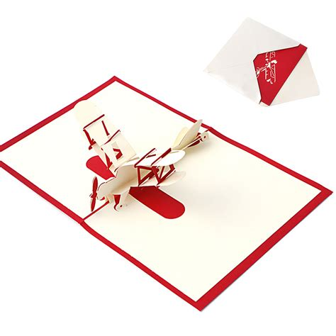 printable paper airplane card 3d pop up holiday greeting cards paper airplane christmas