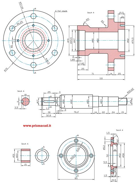tutorial quotatura autocad esempi disegni meccanici prismacad