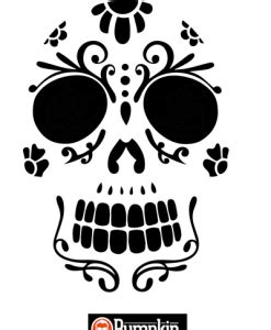 printable pumpkin stencils sugar skull the gallery for gt easy skull pumpkin stencil