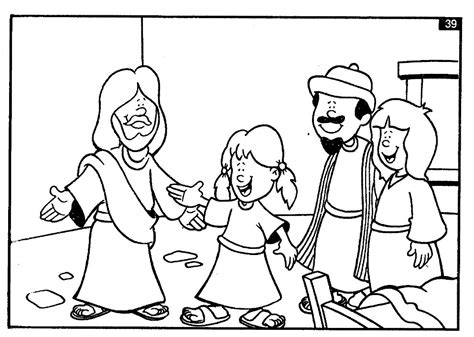 coloring page jesus heals jairus daughter 1000 images about church atividades di on pinterest