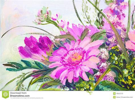 fiori pittura fiori pittura a olio illustrazione di stock immagine