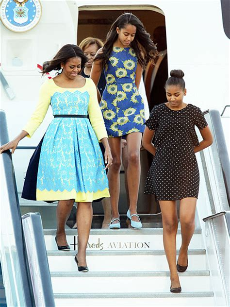 michelle obama in london michelle obama and her daughters land in london see their