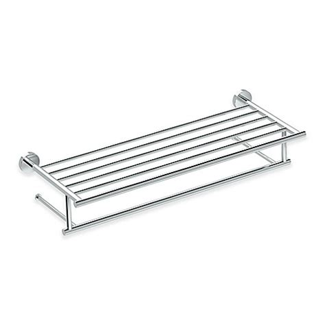 bed bath and beyond towel rack buy gatco glam towel rack in chrome from bed bath beyond
