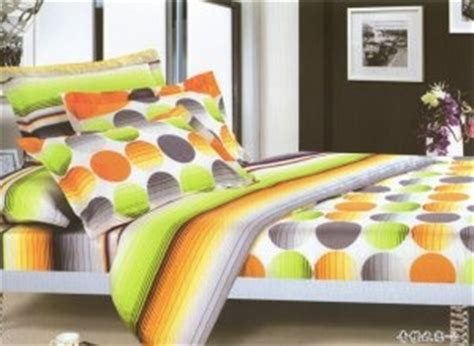 green and orange comforter sets orange gray green yellow polka dot printed queen comforter
