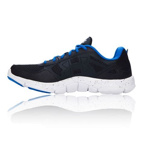 armour sports shoes armour micro g engage 2 mens black running road