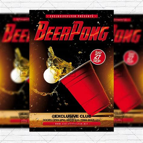 Free Pong Flyer Template Beer Pong Chionship Premium Flyer Template Instagram Size Flyer Exclsiveflyer Free