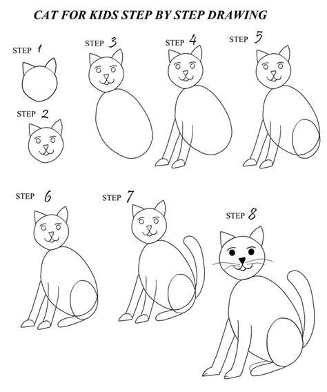 Easy Steps To Draw A Cat by How To Draw A Cat Step By Step With Pictures Cool2bkids