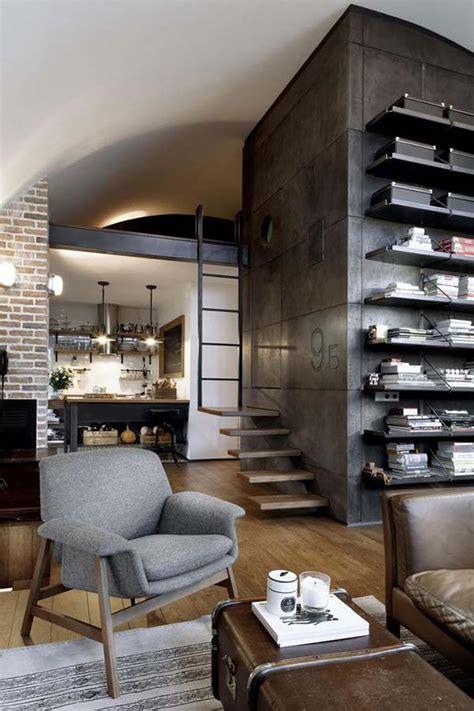 attic apartment   visually pleasing industrial aesthetic