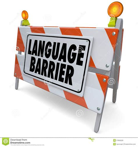 design barrier meaning language barrier translation interpret message meaning