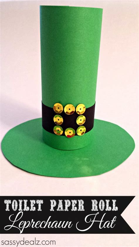 Leprechaun Toilet Paper Roll Craft - leprechaun hat toilet paper roll craft for st s