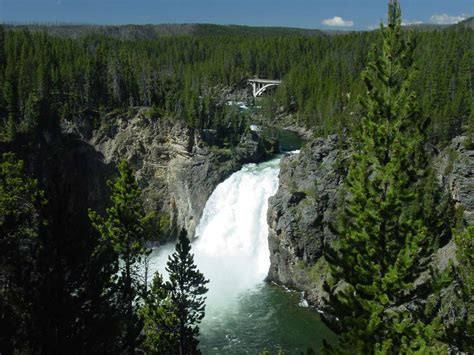 upper falls yellowstone national park wyoming usa