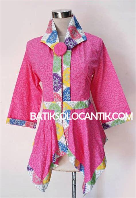 Blus Batik Embos Cap Ba6776 baju kerja wanita modern model batik emboss terbaru