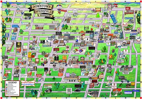 springfield il map downtown springfield map home