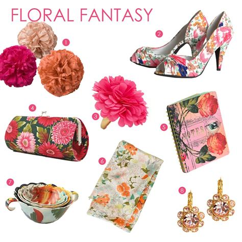 fabulous finds floral print accessories exquisite weddings