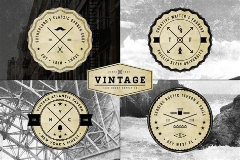vintage logo badge templates logo templates on creative