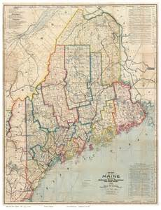 Map Of The State Of Maine by Old Maps Maine Large State Maps