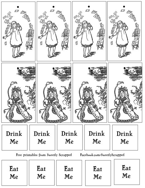 printable version of alice in wonderland alice in wonderland printable tags eat me drink me sweetly